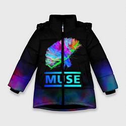 Куртка зимняя для девочки Muse: Neon Flower - фото 1