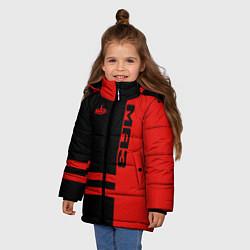 Куртка зимняя для девочки МАЗ цвета 3D-черный — фото 2