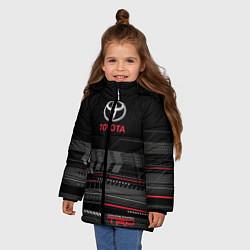 Куртка зимняя для девочки Toyota TRD цвета 3D-черный — фото 2