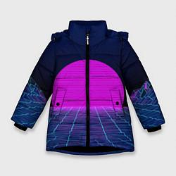 Куртка зимняя для девочки Digital Sunrise цвета 3D-черный — фото 1