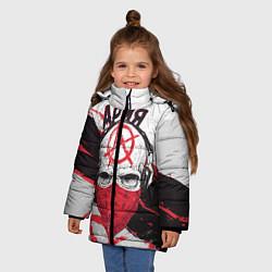 Куртка зимняя для девочки Ария: Анархия цвета 3D-черный — фото 2