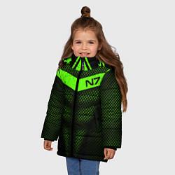 Куртка зимняя для девочки N7: Green Armor цвета 3D-черный — фото 2