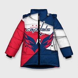 Куртка зимняя для девочки Washington Capitals цвета 3D-черный — фото 1