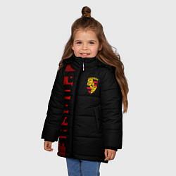 Куртка зимняя для девочки Porsche: Red Line цвета 3D-черный — фото 2