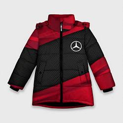 Куртка зимняя для девочки Mercedes Benz: Red Sport цвета 3D-черный — фото 1