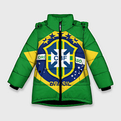 Куртка зимняя для девочки CBF Brazil цвета 3D-черный — фото 1