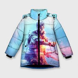 Куртка зимняя для девочки Battlefield 5 цвета 3D-черный — фото 1