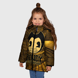 Куртка зимняя для девочки Black Bendy цвета 3D-черный — фото 2