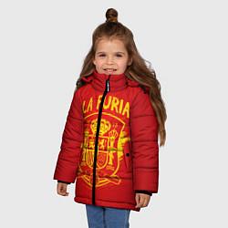Куртка зимняя для девочки La Furia цвета 3D-черный — фото 2