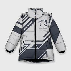 Куртка зимняя для девочки Team Liquid: Grey E-Sport цвета 3D-черный — фото 1