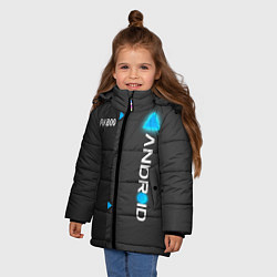 Куртка зимняя для девочки RK800 Android цвета 3D-черный — фото 2