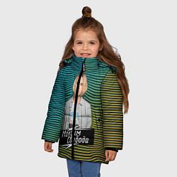 Куртка зимняя для девочки Максим Свобода цвета 3D-черный — фото 2