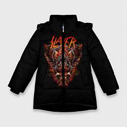 Детская зимняя куртка для девочки с принтом Slayer Hell, цвет: 3D-черный, артикул: 10156600906065 — фото 1