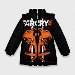 Куртка зимняя для девочки Far Cry 4: Orange Elephant цвета 3D-черный — фото 1