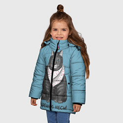 Куртка зимняя для девочки Черешню неси! цвета 3D-черный — фото 2