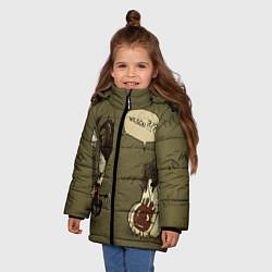 Куртка зимняя для девочки Wilson outcast цвета 3D-черный — фото 2