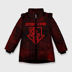 Куртка зимняя для девочки System of a Down цвета 3D-черный — фото 1