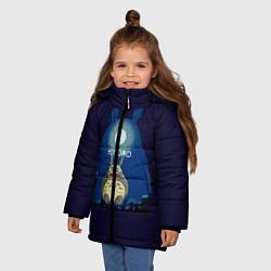 Куртка зимняя для девочки Ночной Тоторо цвета 3D-черный — фото 2