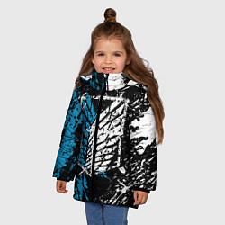 Куртка зимняя для девочки Разведкорпус цвета 3D-черный — фото 2