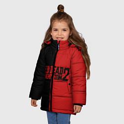 Куртка зимняя для девочки RDD 2: Black & Red цвета 3D-черный — фото 2