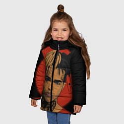Куртка зимняя для девочки XXXTentacion: Red Sun цвета 3D-черный — фото 2