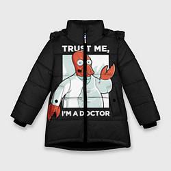 Куртка зимняя для девочки Zoidberg: Trust Me цвета 3D-черный — фото 1