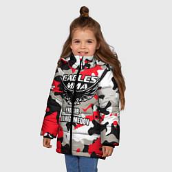 Куртка зимняя для девочки Khabib Nurmagomedov: Red Camo цвета 3D-черный — фото 2