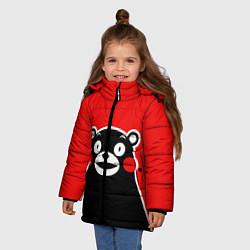 Куртка зимняя для девочки Kumamon Smile цвета 3D-черный — фото 2