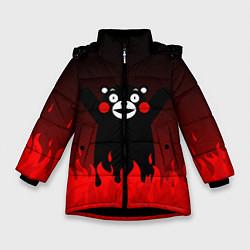 Куртка зимняя для девочки Kumamon: Hell Flame цвета 3D-черный — фото 1
