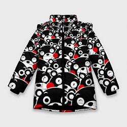 Детская зимняя куртка для девочки с принтом Kumamons, цвет: 3D-черный, артикул: 10162796906065 — фото 1