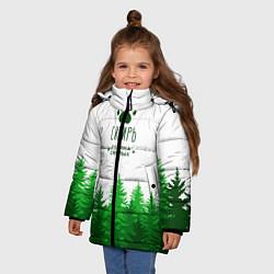 Куртка зимняя для девочки Сибирь - родина смелых цвета 3D-черный — фото 2