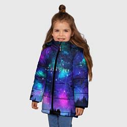 Куртка зимняя для девочки No Man's Sky: Space Vision цвета 3D-черный — фото 2
