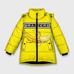 Куртка зимняя для девочки Brazzers: Yellow Banana цвета 3D-черный — фото 1