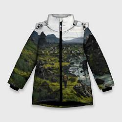 Куртка зимняя для девочки Death Stranding: Green World цвета 3D-черный — фото 1
