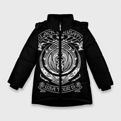 Куртка зимняя для девочки Black Sabbath цвета 3D-черный — фото 1
