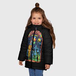 Куртка зимняя для девочки Clowns Are Funny цвета 3D-черный — фото 2