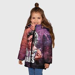 Куртка зимняя для девочки Elon Musk: Let's go to Mars цвета 3D-черный — фото 2