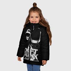 Детская зимняя куртка для девочки с принтом Daft Punk: Space Rangers, цвет: 3D-черный, артикул: 10171345306065 — фото 2