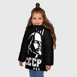 Куртка зимняя для девочки СССР Ленин цвета 3D-черный — фото 2