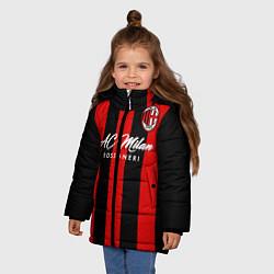 Куртка зимняя для девочки AC Milan цвета 3D-черный — фото 2