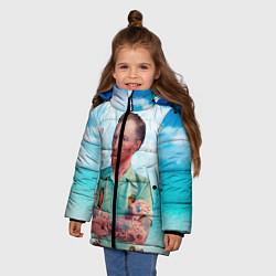 Куртка зимняя для девочки Ван Гог 21 века цвета 3D-черный — фото 2