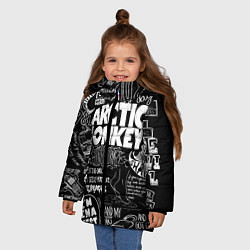 Куртка зимняя для девочки Arctic Monkeys: I'm in a Vest цвета 3D-черный — фото 2