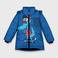 Куртка зимняя для девочки Skate NYC цвета 3D-черный — фото 1