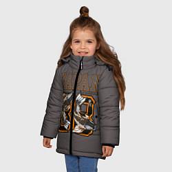 Куртка зимняя для девочки Japan 88 цвета 3D-черный — фото 2