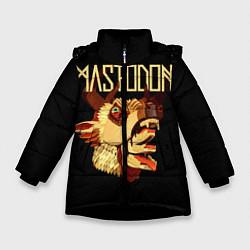 Детская зимняя куртка для девочки с принтом Mastodon: Leviathan, цвет: 3D-черный, артикул: 10172767506065 — фото 1