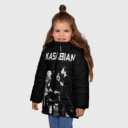 Куртка зимняя для девочки Kasabian Rock цвета 3D-черный — фото 2