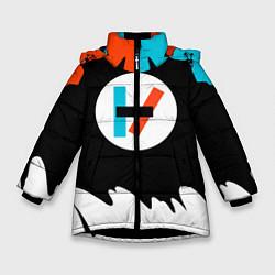 Куртка зимняя для девочки 21 Pilots: Chlorine цвета 3D-черный — фото 1