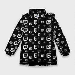 Куртка зимняя для девочки Twitch: Black Pattern цвета 3D-черный — фото 1