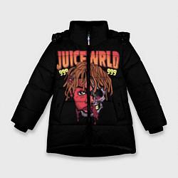 Детская зимняя куртка для девочки с принтом Juice WRLD, цвет: 3D-черный, артикул: 10173990506065 — фото 1