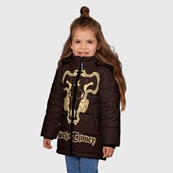 Куртка зимняя для девочки Black Clover цвета 3D-черный — фото 2